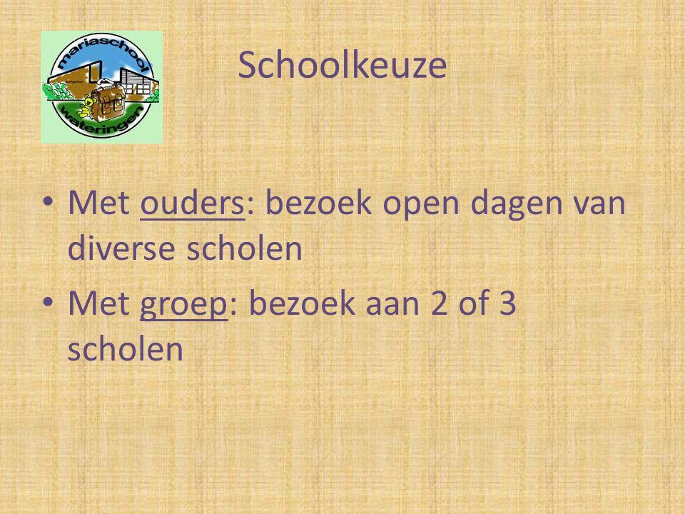 Schoolkeuze Met ouders: bezoek open dagen van diverse scholen