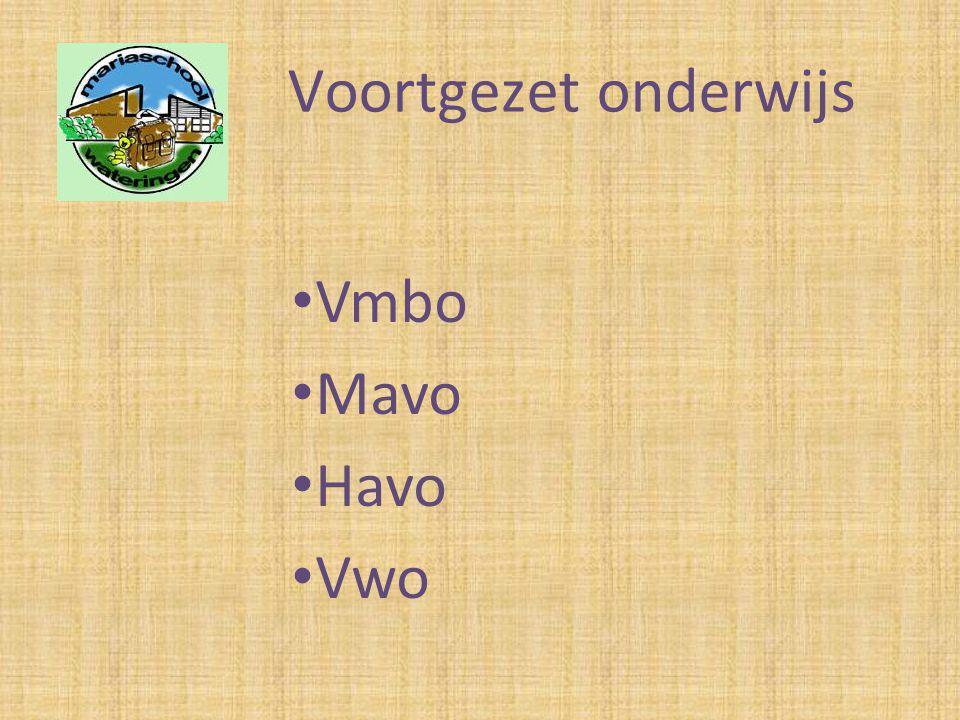 Voortgezet onderwijs Vmbo Mavo Havo Vwo