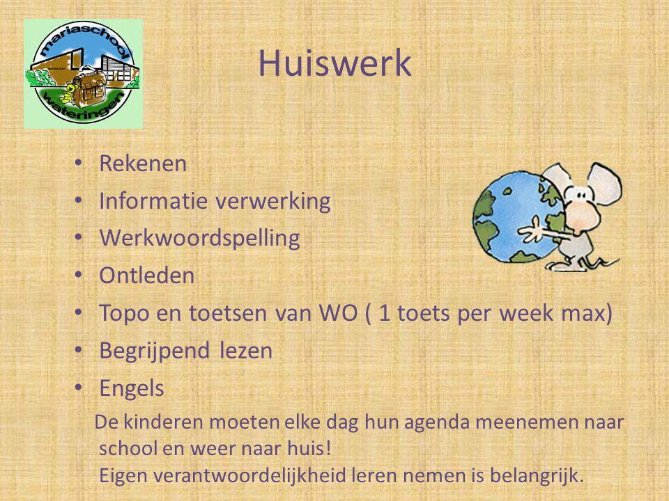 Huiswerk Rekenen Informatie verwerking Werkwoordspelling Ontleden