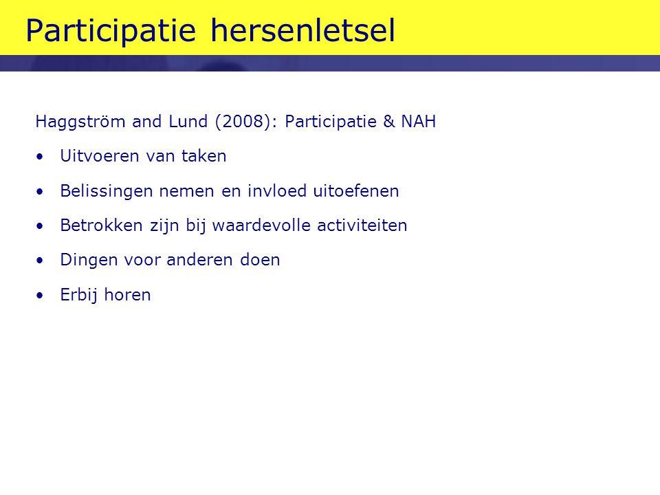 Participatie hersenletsel
