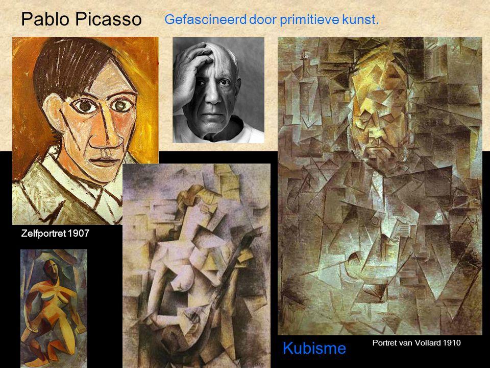 Pablo Picasso Kubisme Gefascineerd door primitieve kunst.