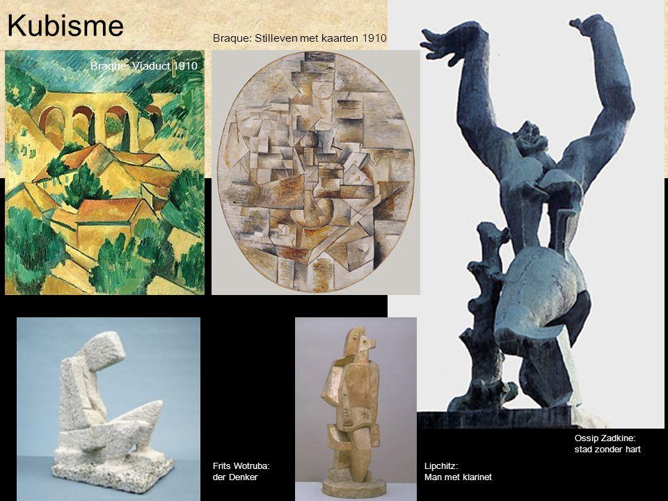 Kubisme Braque: Stilleven met kaarten 1910 Braque: Viaduct 1910