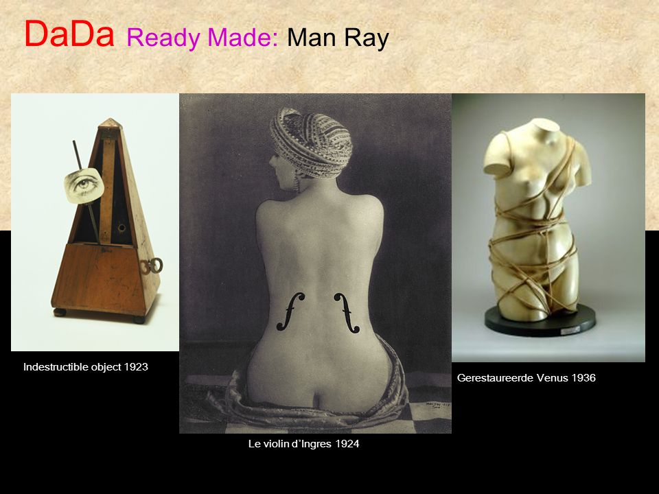 DaDa Ready Made: Man Ray