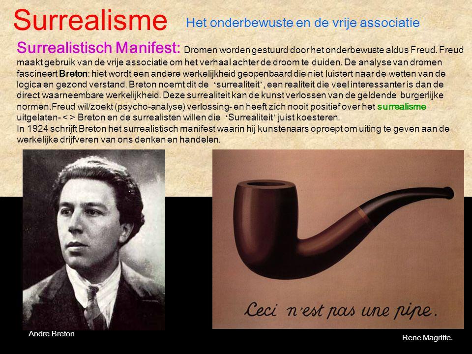 Surrealisme Het onderbewuste en de vrije associatie.