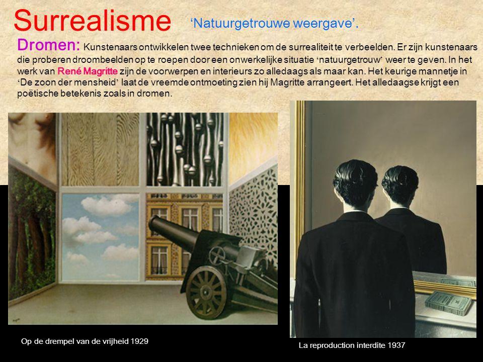 Surrealisme 'Natuurgetrouwe weergave'.