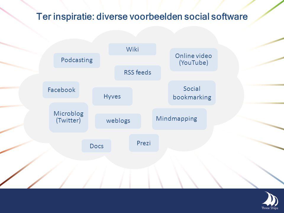 Ter inspiratie: diverse voorbeelden social software