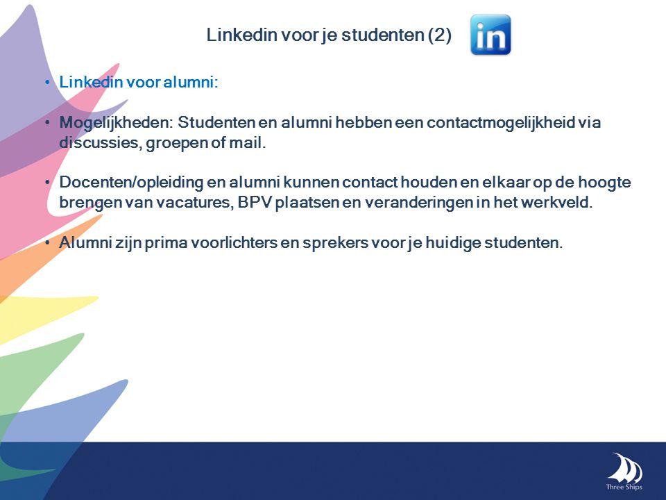 Linkedin voor je studenten (2)