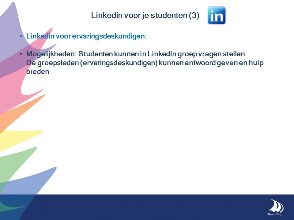 Linkedin voor je studenten (3)