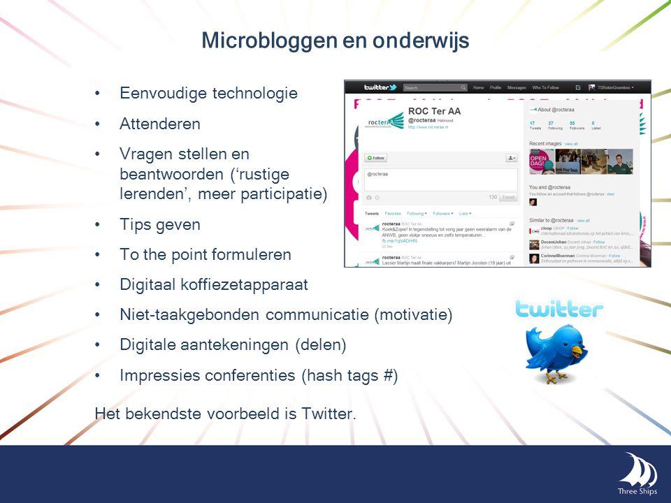 Microbloggen en onderwijs