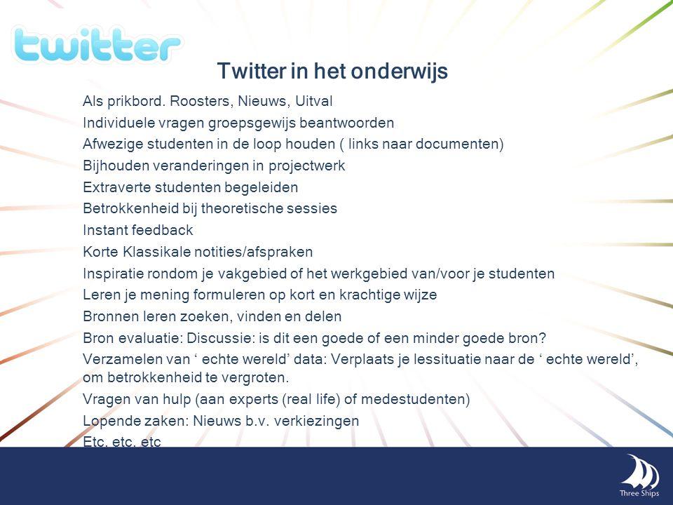 Twitter in het onderwijs