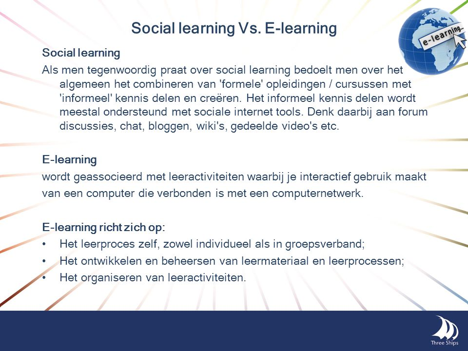 Social learning Vs. E-learning