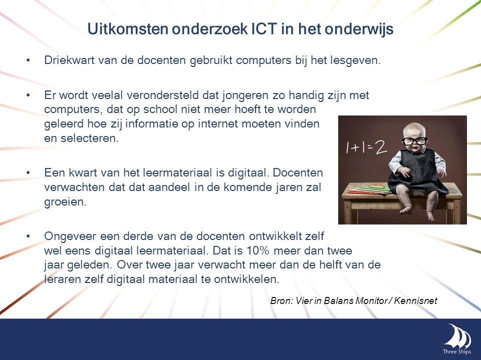 Uitkomsten onderzoek ICT in het onderwijs