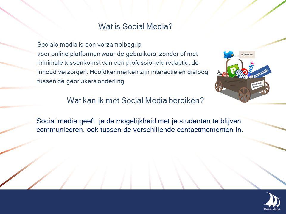 Wat kan ik met Social Media bereiken