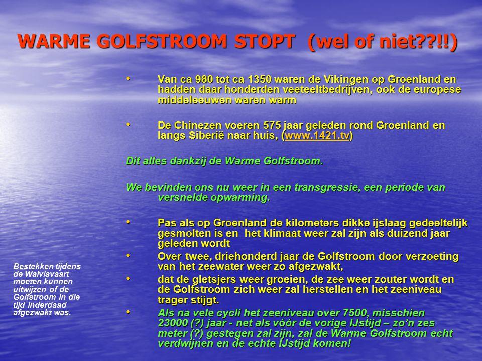 WARME GOLFSTROOM STOPT (wel of niet !!)