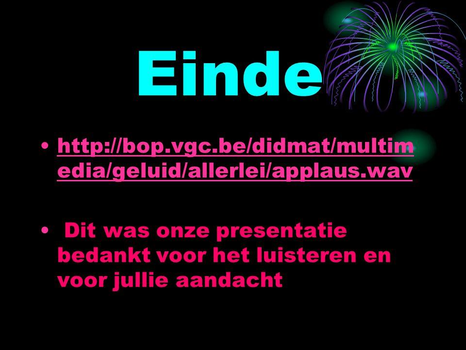 Einde http://bop.vgc.be/didmat/multimedia/geluid/allerlei/applaus.wav