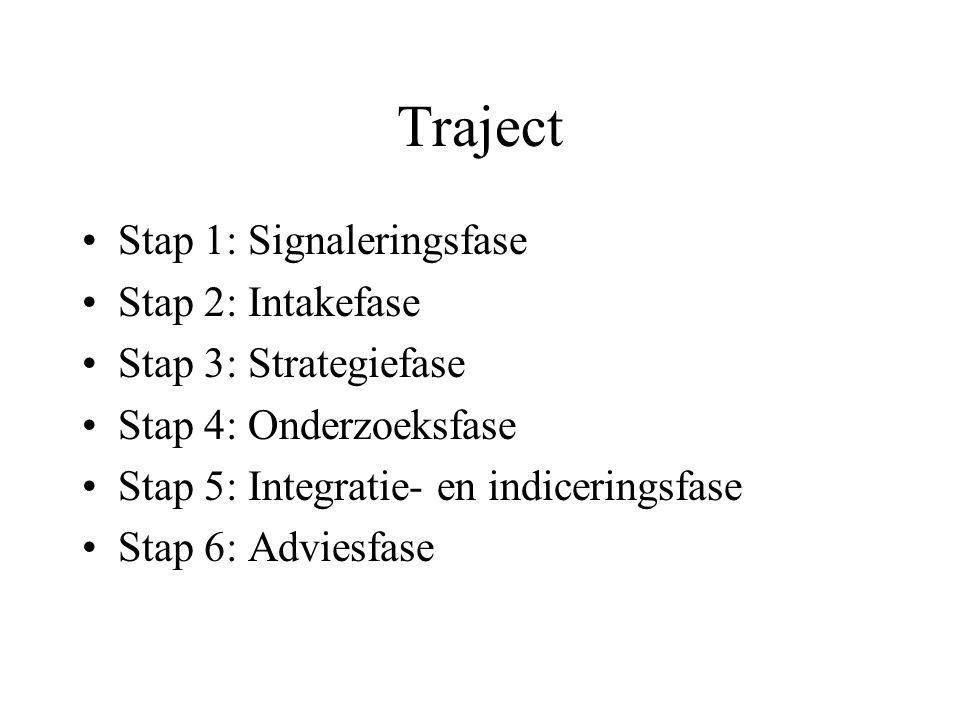 Traject Stap 1: Signaleringsfase Stap 2: Intakefase