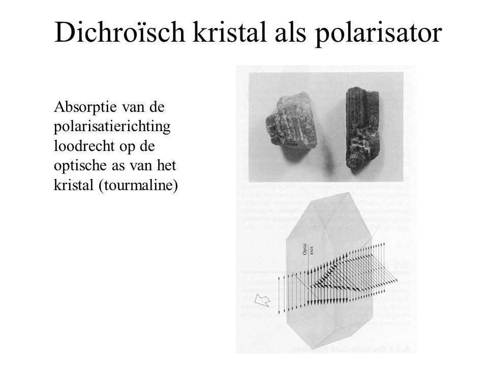 Dichroïsch kristal als polarisator