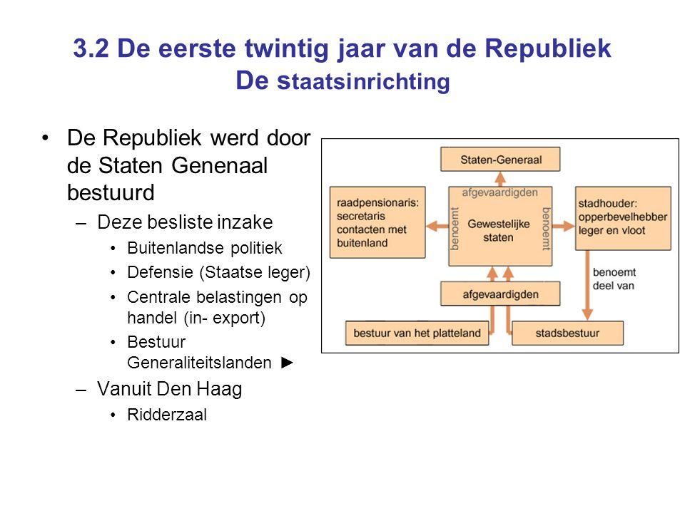 3.2 De eerste twintig jaar van de Republiek De staatsinrichting