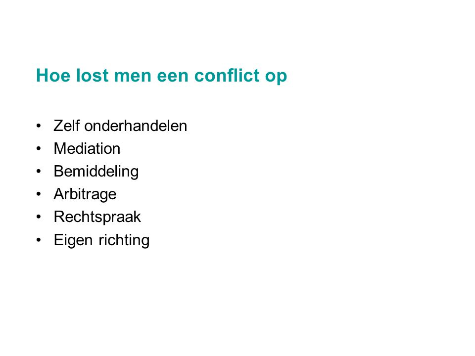 Hoe lost men een conflict op
