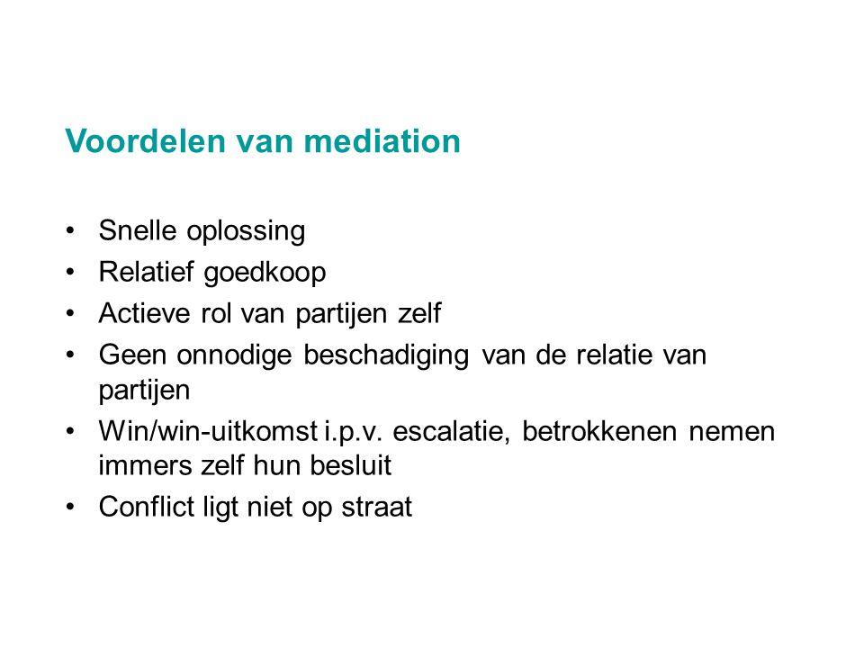 Voordelen van mediation