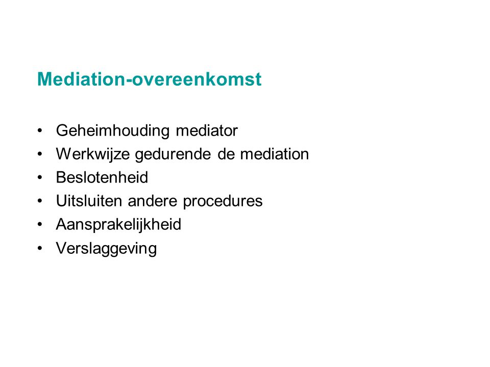 Mediation-overeenkomst