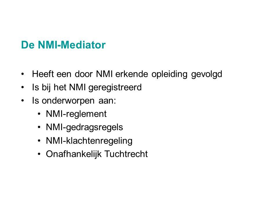 De NMI-Mediator Heeft een door NMI erkende opleiding gevolgd