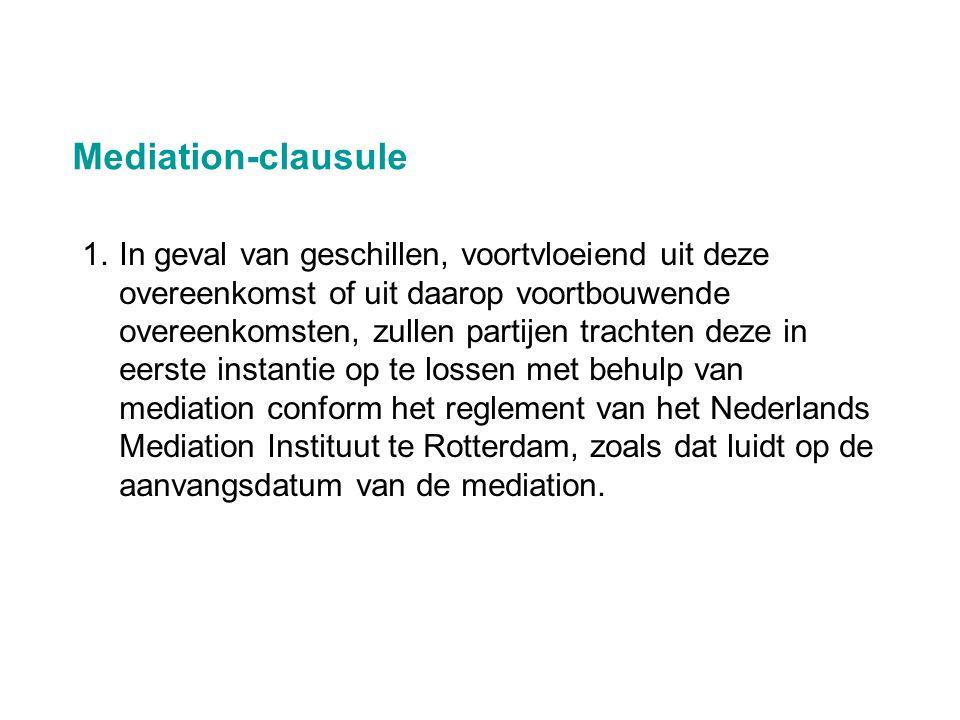 Mediation-clausule