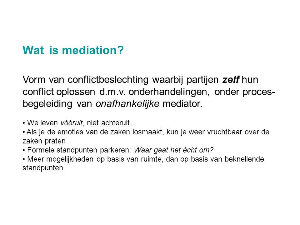 Wat is mediation