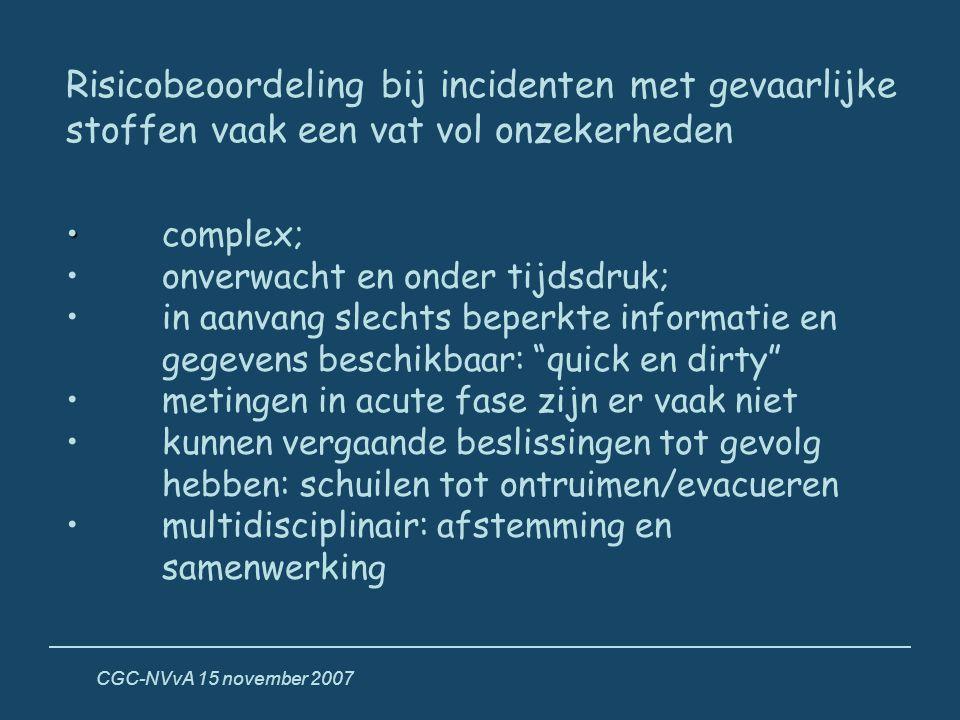 Risicobeoordeling bij incidenten met gevaarlijke