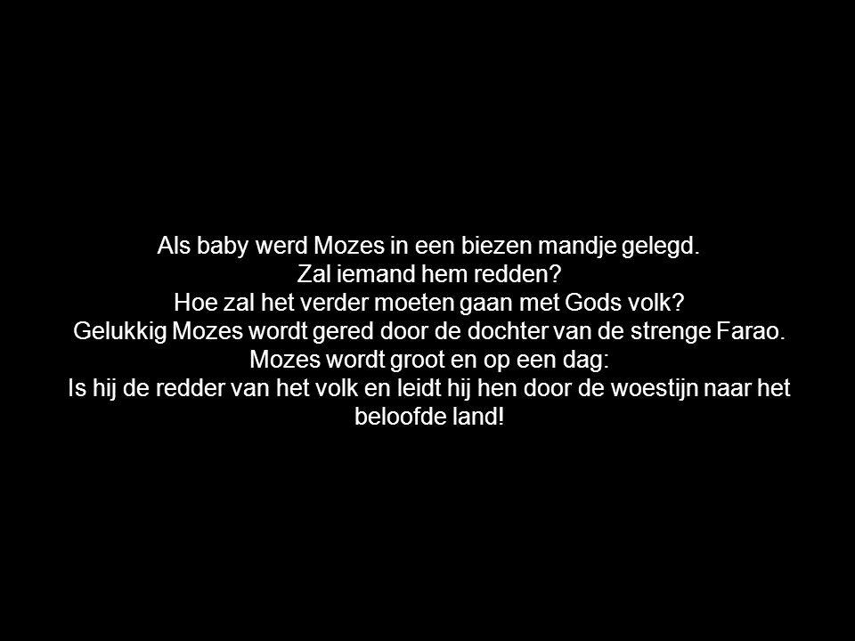 Als baby werd Mozes in een biezen mandje gelegd.
