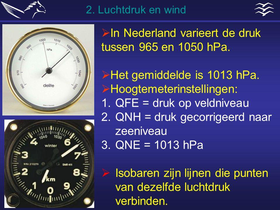 In Nederland varieert de druk tussen 965 en 1050 hPa.