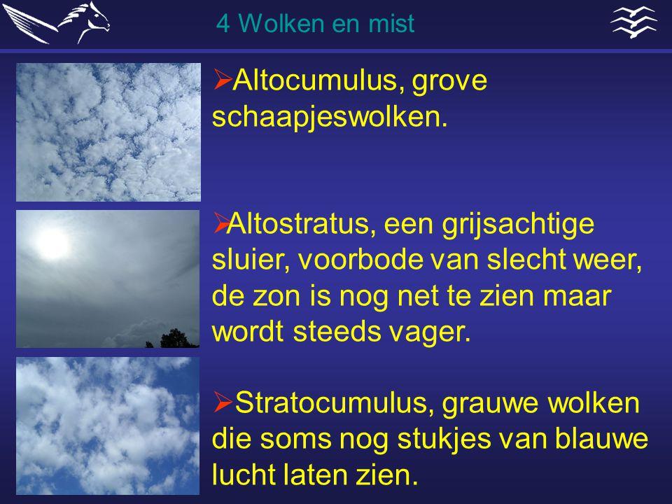 Altocumulus, grove schaapjeswolken.