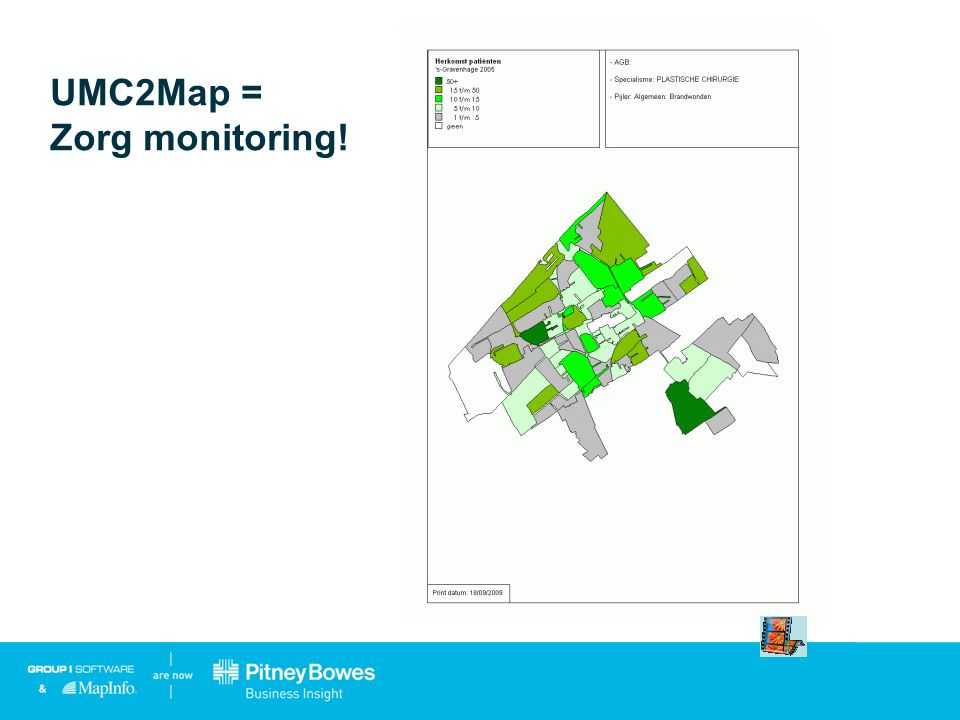UMC2Map = Zorg monitoring!