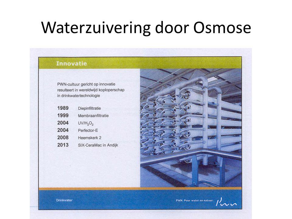 Waterzuivering door Osmose