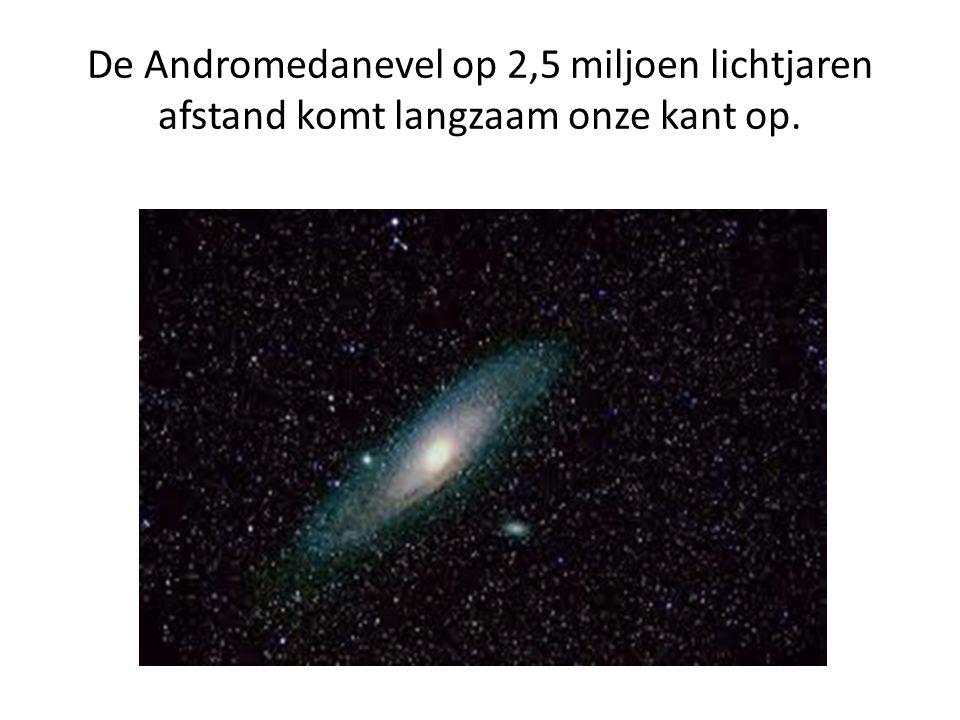 De Andromedanevel op 2,5 miljoen lichtjaren afstand komt langzaam onze kant op.