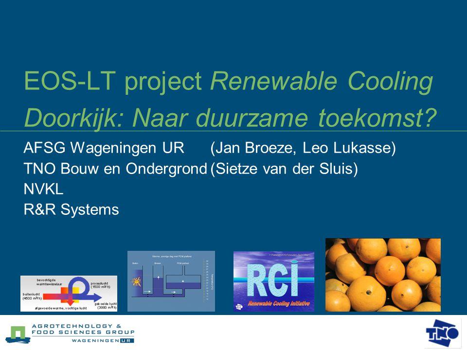 EOS-LT project Renewable Cooling Doorkijk: Naar duurzame toekomst