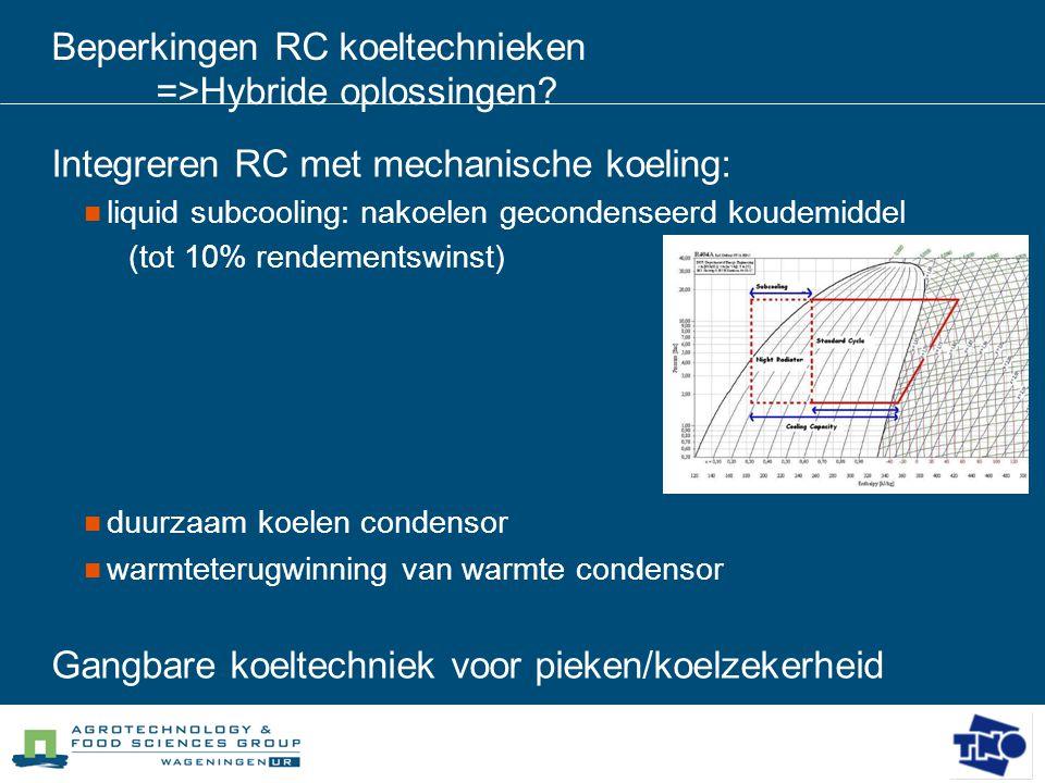 Beperkingen RC koeltechnieken =>Hybride oplossingen