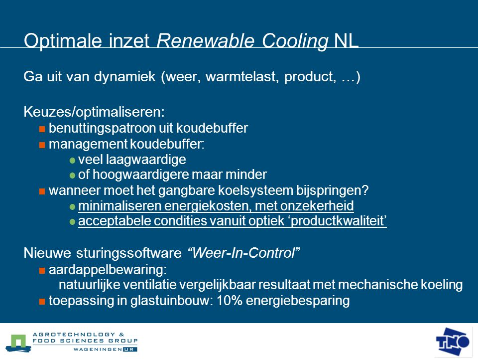 Optimale inzet Renewable Cooling NL