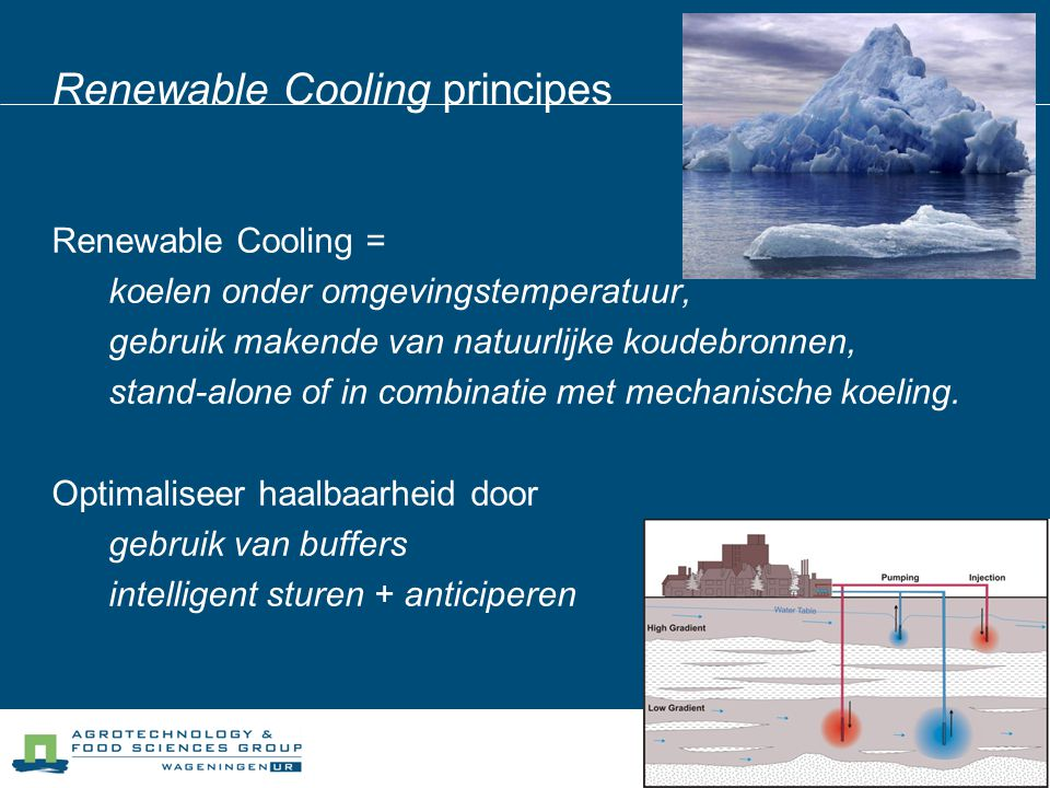Renewable Cooling principes