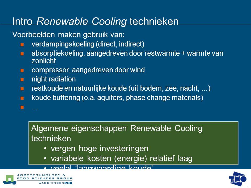 Intro Renewable Cooling technieken