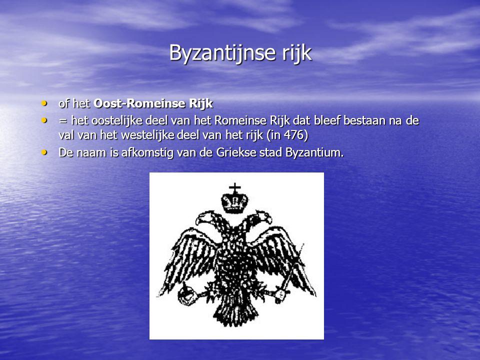 Byzantijnse rijk of het Oost-Romeinse Rijk