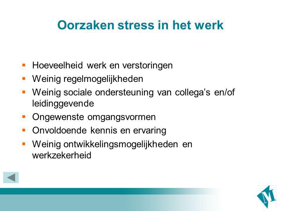Oorzaken stress in het werk