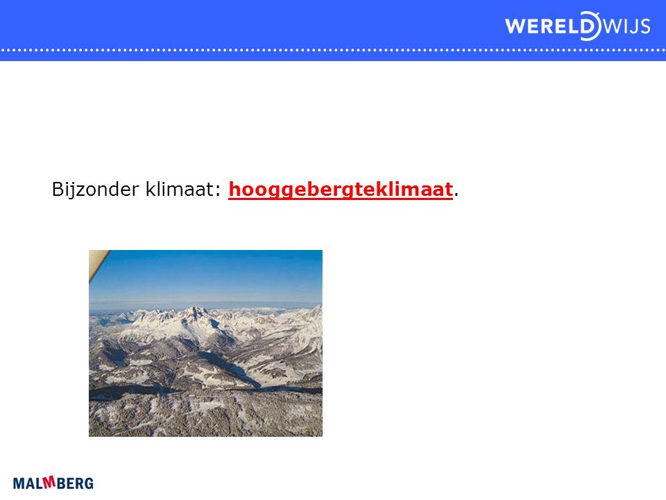 Bijzonder klimaat: hooggebergteklimaat.