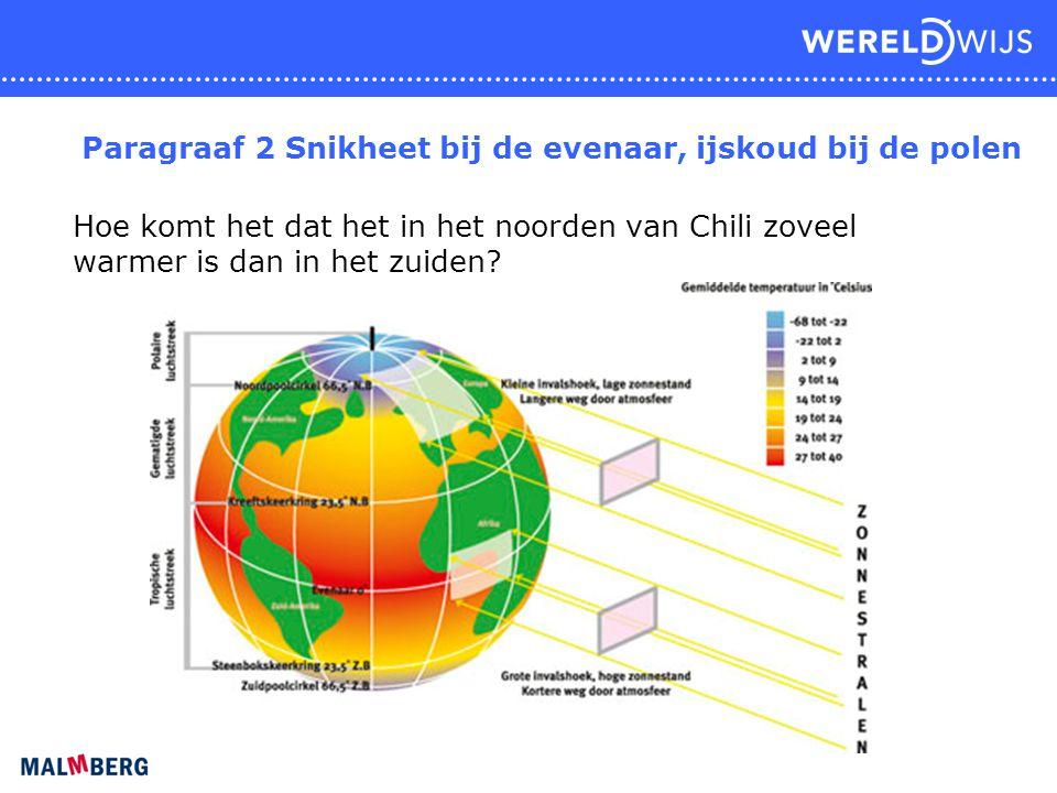 Paragraaf 2 Snikheet bij de evenaar, ijskoud bij de polen