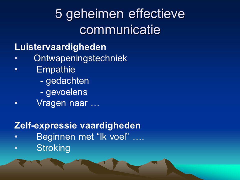 5 geheimen effectieve communicatie