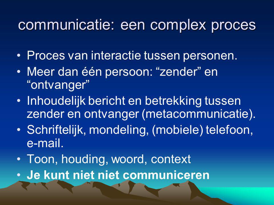 communicatie: een complex proces