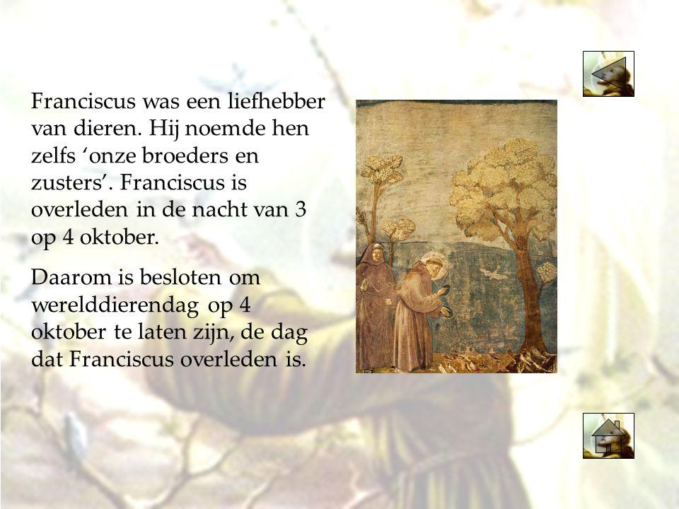 Franciscus was een liefhebber van dieren
