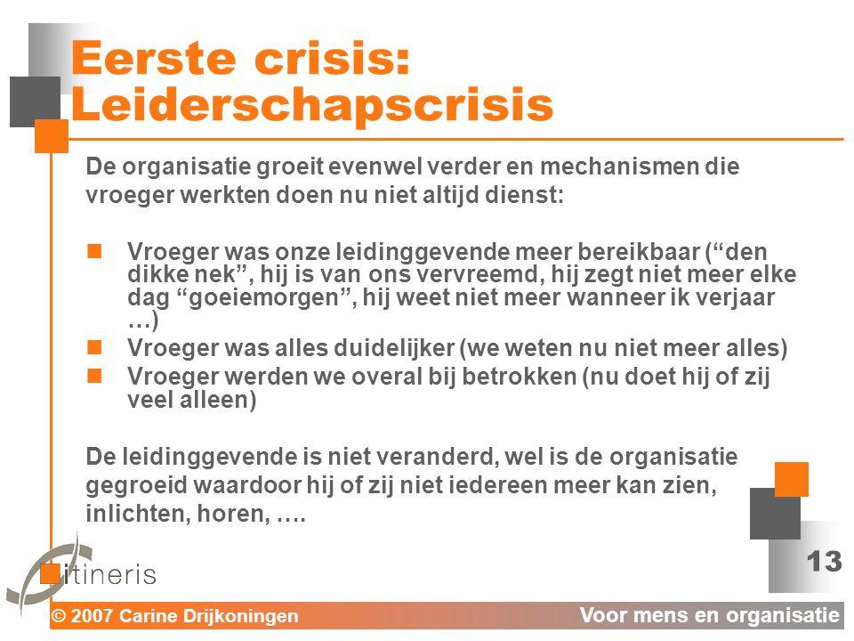 Eerste crisis: Leiderschapscrisis