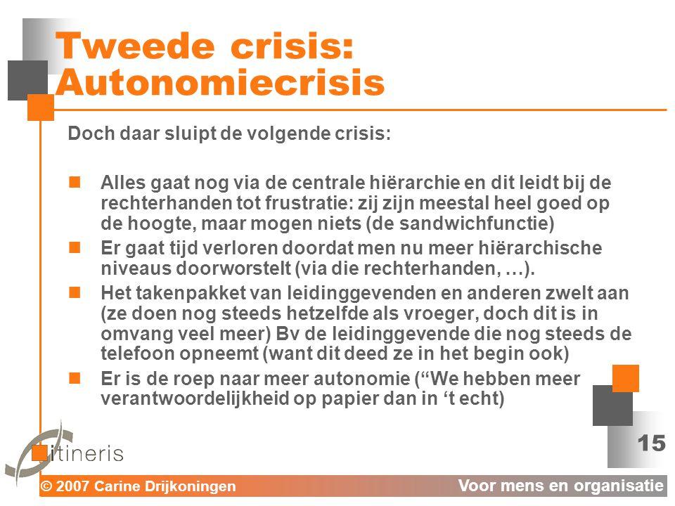 Tweede crisis: Autonomiecrisis