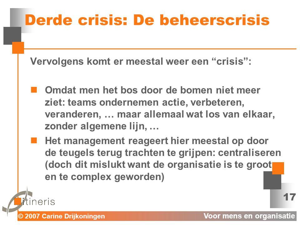 Derde crisis: De beheerscrisis